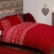 Completi di lenzuola o copripiumini cuori rossi federa