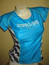 Moxie Lifetime Espirit De She Woman Blue Bike / Cycling Jersey Medium stripe