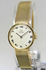 Omega Vintage 14k Yellow Gold Bracelet Manual Wind 21mm Ladies Watch