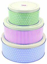 Tala Retro Design Round Cake Tins - 3 Pack