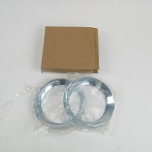 """Universal Chevy GM Chrome Trim Rings for 7"""" Frenched Headlight Pair Tri-5 Nomad"""