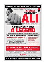Quadro su pannello in legno MDF Muhammad Ali Vintage Misura 60x90 CM