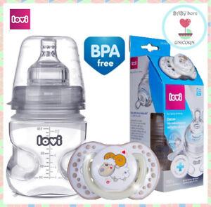 Medical+ bottle 150ml with Dynamic Feeding Teat 0m+ & LOVI Dynamic Soother 0-3m