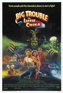 Big Trouble in Little China Movie POSTER 27 x 40 Kurt Russell, Kim Cattrall, C