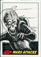 Mars Attacks Heritage Sketch Card By Van Davis