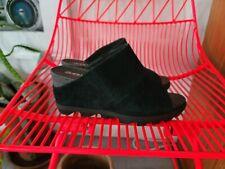 NEW Sorel Black Joanie II Mule Leather Slide Wedge 8