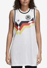 NWT Womens Adidas Originals Sleeveless White Mesh Germany Soccer Tank Dress XL
