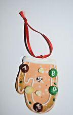 "Estate Christmas Ornament Gingerbread Mitten 3D 3"" Tall Adorable Look"