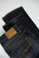 RRP£120 NUDIE HANK REY ORG. INDIGO DEPTH Men W36/L34 Blue Straight Jeans 2812_mm