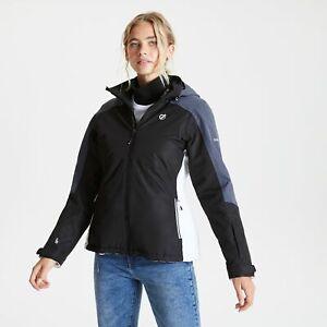 Dare 2B Women's Radiate Waterproof Insulated Hooded Ski Jacket - Black Grey