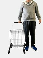 Voyager Tools Portable Lightweight Shopping Cart Collapsible