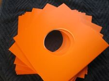 50  ORANGE CARD 7 INCH RECORD SLEEVES U.K. MADE. FREE POSTAGE !!! MIX AND MATCH