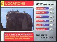 C1858 Crocodile Farm #11 Locations 007 Spy Files 2002 James Bond Trade Card