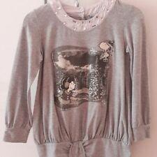 909fa4825c22a5 Maxi maglia maglietta grigia ORIGINAL MARINES Snoopy bimba bambina 8 anni