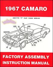 FACTORY ASSEMBLY MANUAL CHEVROLET CAMARO 1967