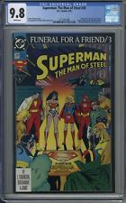 Superman: The Man of Steel # 20 CGC 9.8 Funeral for a Friend Part 3