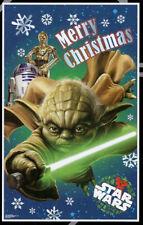 STAR WARS scene setter Christmas party wall decor PHOTO BACKDROP Yoda R2D2 C3PO