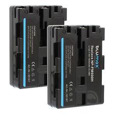 2x Akku für Sony NP-FM500H | 65167 | DSLR-Alpha 500 580 850 900 SLT-A58 65 77 99