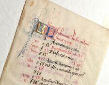 Februar Original Manuskript Pergament 1460 parchment vellum flämisch Stundenbuch