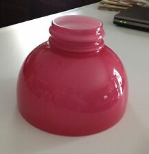 VINTAGE STUDENT LAMP SHADE IN RARE ROSE COLORED CASED GLASS