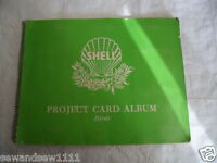 GREEN VINTAGE OLD SHELL PROJECT CARD ALBUM BOOK BIRDS WITH CARDS 121 - 180