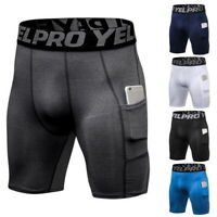 Men Quick Dry Compression Boxer Shorts  Layer Brief Pants Sports Gym Fitness