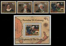 Samoa 1987 - Mi-Nr. 621-624 & Block 42 ** - MNH - Entdecker / Explorers