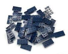 Lego 50 New Dark Blue Plates 2 x 4 Dot Building Blocks Pieces