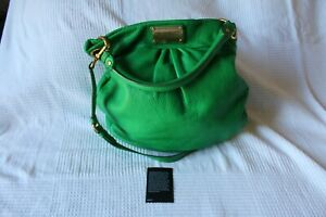 Marc By Marc Jacobs Classic Q Hillier Hobo Bag Green Soft Pebbled Leather Purse