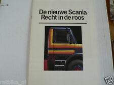 SCANIA 1980 MODELS TRUCK VRACHTAUTO BROCHURE PROSPEKT DUTCH 24 PAGES HEAVY,142E