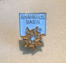 Vintage 80's ARAPAHOE BASIN CO Skiing Hat Lapel Pin Ski Resort  Travel Pristine