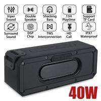 40W Portable Wireless bluetooth Speaker 6600mAh Waterproof Bass Stereo