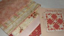 """STRAWBERRY BON BONS Featured Fabric Table Topper Quilt Kit WillowBerry 24x24"""""""