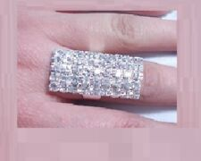 Diamonte/Diamante Silver Tone Big Rectangle Shape Ring - NEW!!!
