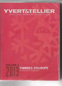 Catalogue Yvert &Tellier : Europe Vol 4 (2013)