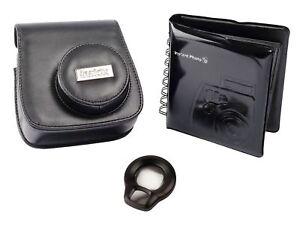 Fujifilm Accessory Kit w/ Case / Album / Selfie Lens for Instax Mini 8 - Black