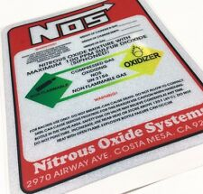 NOS Sticker Car Styling Reflective Motorcycle Decal For Warning Nitrous Oxide