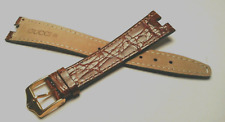 cinturino Gucci originale alligatore lucido gold fibbia gold orologi ansa 18 mm