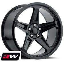 20 x9.5 20x10.5 Dodge Challenger SRT Demon OEM Replica Wheels Gloss Black Rims