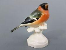 Schwarzburger Werkstätten, Vogel Figur, Dompfaff, Entw. W. Neuhäuser, H =11 cm