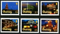 GUERNSEY 2001 CHRISTMAS FESTIVE LIGHTS SET OF ALL 6 COMMEMORATIVE STAMPS MNH (H)