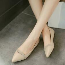 Womens Ballet Flats Pumps Pointy Toe Loafers Casual Comfort Plus Size Shoes 0521