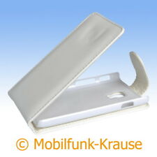 Flip Case Etui Handytasche Tasche Hülle f. LG P710 Optimus L7 II (Weiß)