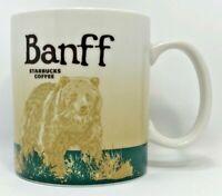 Starbucks Banff Coffee Global Icon Bear Green Mug 16 Oz Collector Series 2011