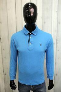 Polo Ralph Lauren Uomo Taglia L Blu T-Shirt Cotone Manica Lunga Maglia Logo Man