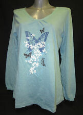 Butterfly Cotton Long Sleeve Tops & Shirts for Women
