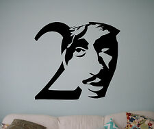 Tupac Shakur Wall Vinyl Decal 2Pac Vinyl Sticker Home Interior Removable Decor 4