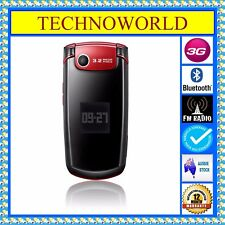 UNLOCKED SAMSUNG S5511T RED FLIP+3G+BLUE TICK/RURAL/REGIONAL+BLUETOOTH+INTERNET