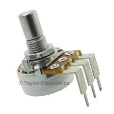 2pcs 100K OHM Linear Taper Rotary Potentiometers PCB Mount - USA SELLER