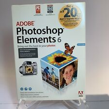 Adobe Photoshop Elements 6 Photo Editing Software for Windows XP Vista NEW